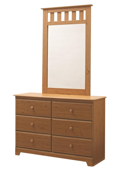 Eagle River 6 Drawer Dresser & Mirror - Desert Pine