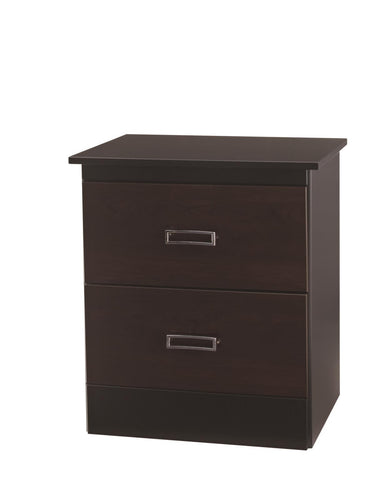Hurley 2 Drawer Nightstand - Black w/ Colonial Cherry