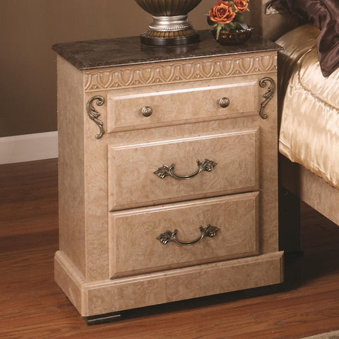 Kenosha 3 Drawer Nightstand - Stone
