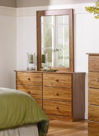 6 Drawer Dresser & Mirror - in 5 Finishes