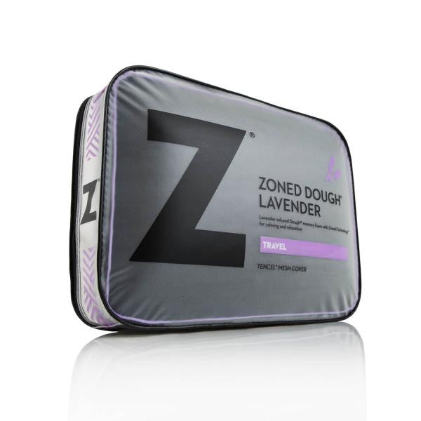Z Pillow Travel Zoned Dough® Lavender by Malouf