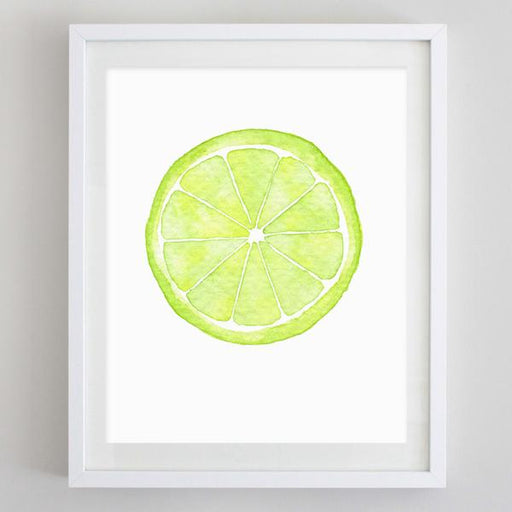 Lime Watercolor Print by Carly Rae