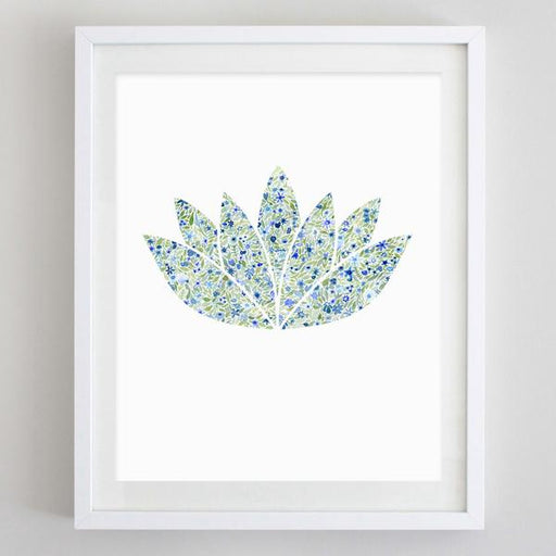 Lotus Yoga Floral Watercolor Art Print by Carly Rae