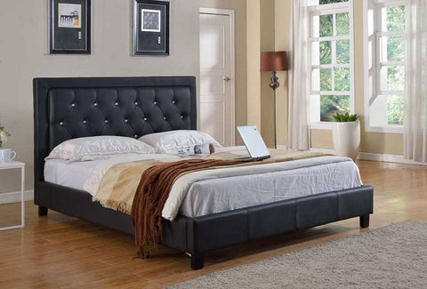 Milton Diamond Platform Bed - in 2 Colors