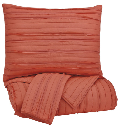 Solsta Coverlet - Coral