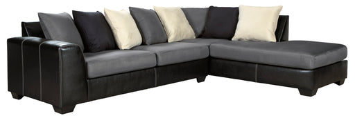 Jacurso Sectional - Charcoal