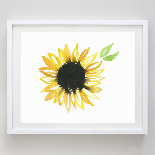 Sunflower Watercolor Print by Carly Rae