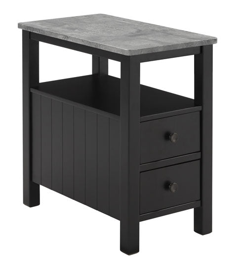 Ezmonei - Chair Side End Table - Black/Gray