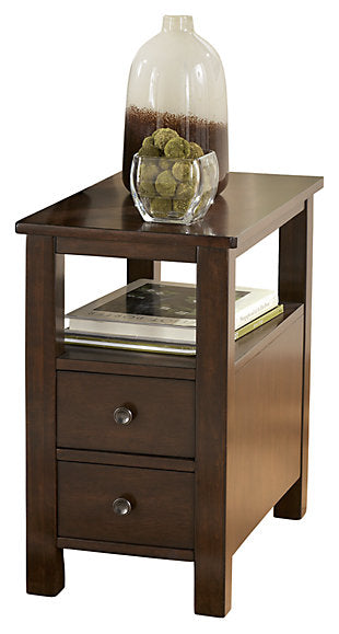 Marion - Chair Side End Table - Dark Brown