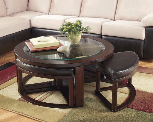 Marion Round Coffee Table w/ Stools