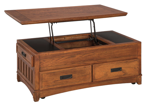 Cross Island Lift Top Coffee Table