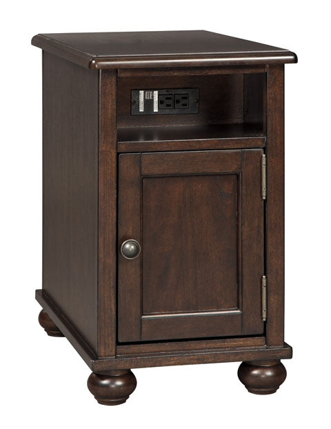 Barilanni - Chair Side End Table - Dark Brown