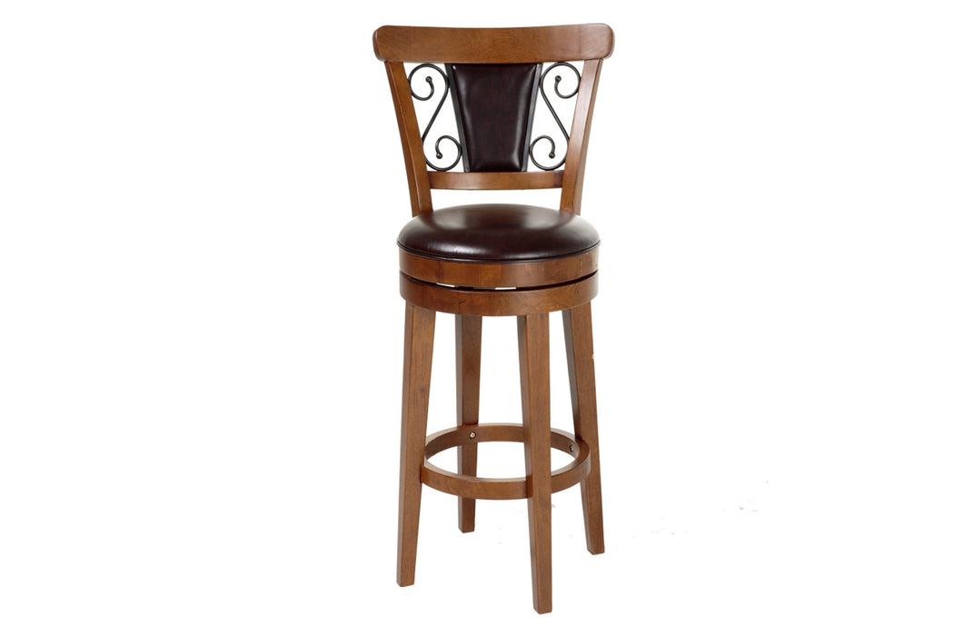 "Trenton 30"" Wood Bar Stool with Swivel-seat"