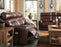 Sessom - Power Reclining Sofa w/ Adjustable Headrest - Genuine Leather