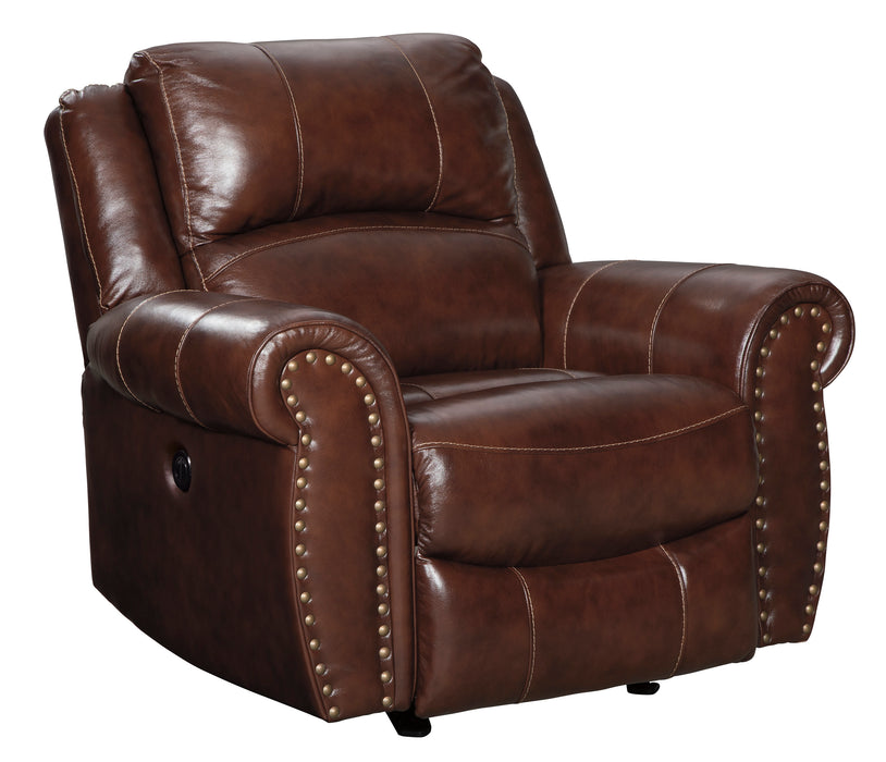 Bingen Rocker Recliner - Genuine Leather - Optional Power