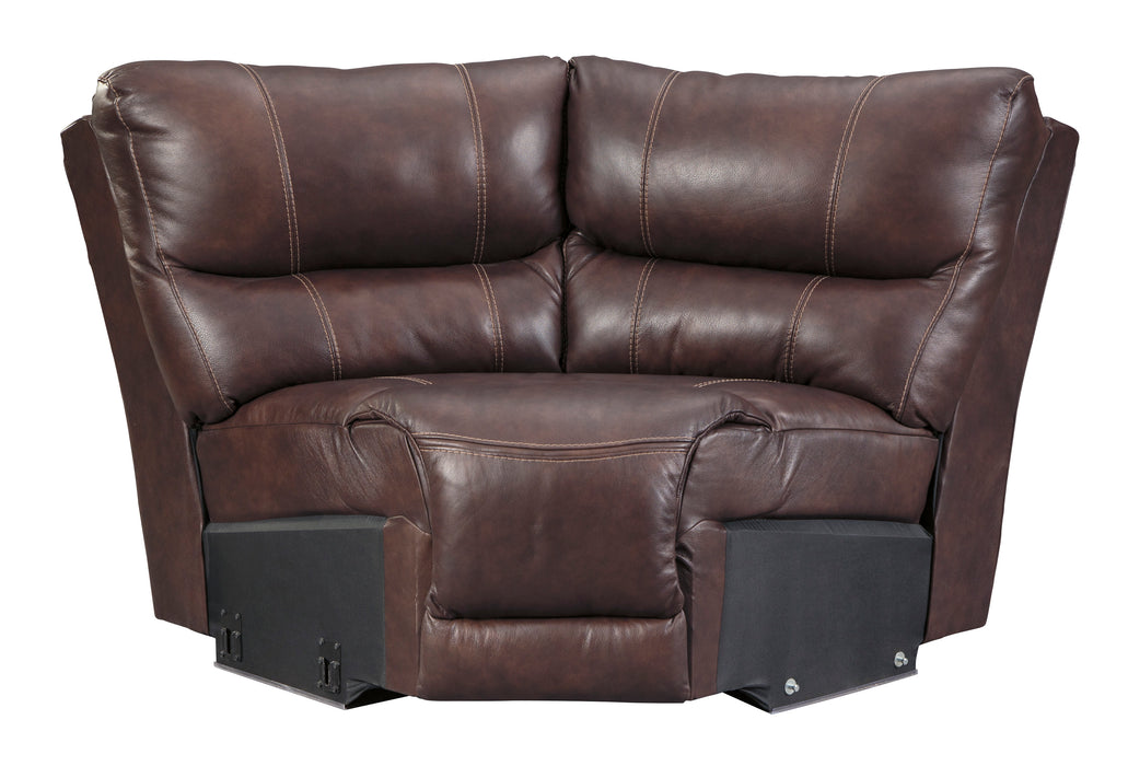 Muirfield - Genuine Leather Reclining Sectional Power w/ Headrest - 4 Options
