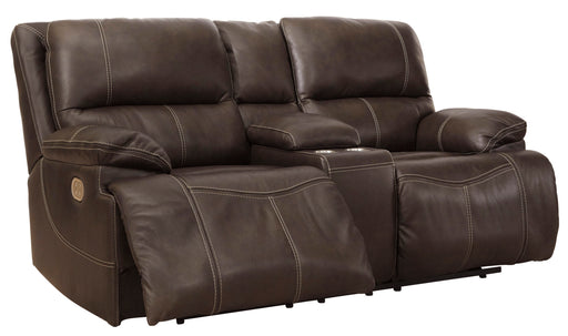 Ricmen - Power Reclining Loveseat w/ Adjustable Headrest - Genuine Leather