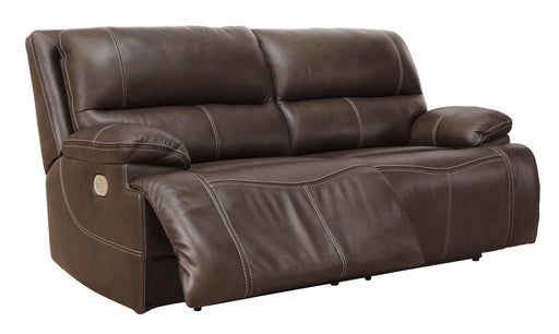 Ricmen - Power Reclining Sofa w/ Adjustable Headrest - Genuine Leather