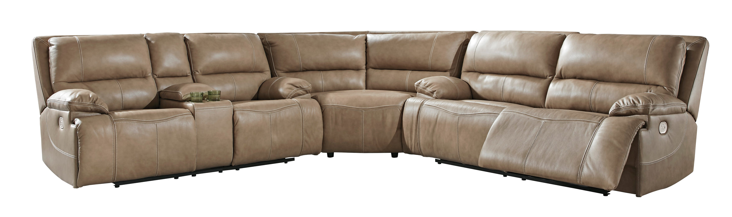 Ricmen Power Reclining Sectional  w/ Adjustable Headrest  - Genuine Leather - 3 Options