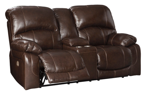 Hallstrung - Power Reclining Loveseat w/ Adjustable Headrest - Genuine Leather
