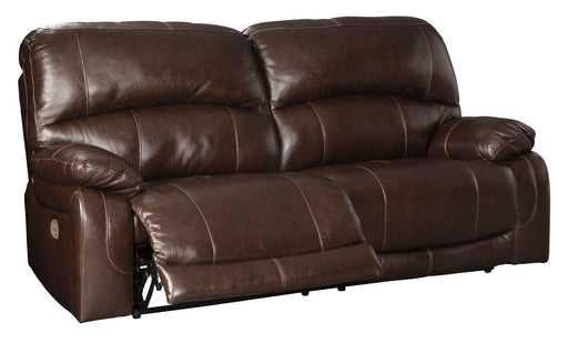 Hallstrung - Power Reclining Sofa w/ Adjustable Headrest - Genuine Leather