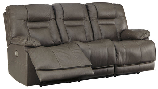 Wurstrow - Power Reclining Sofa w/ Adjustable Headrest - Genuine Leather