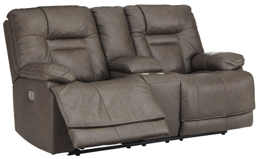 Wurstrow - Power Reclining Loveseat w/ Adjustable Headrest - Genuine Leather