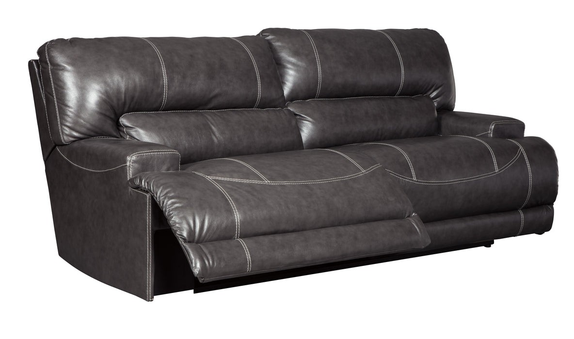 McCaskill - Reclining Sofa - Genuine Leather - Optional Power
