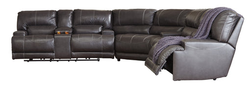 McCaskill - Genuine Leather Reclining Sectional - 3 Options - Optional Power