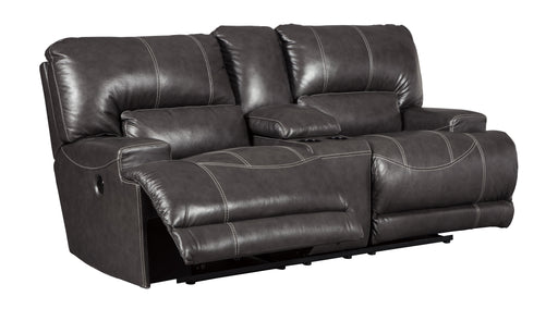 McCaskill - Reclining Loveseat w/ Center Console - Genuine Leather - Optional Power