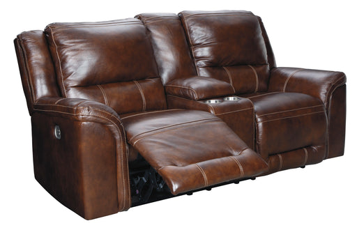Catanzaro - Power Reclining Loveseat w/ Adjustable Headrest - Genuine Leather