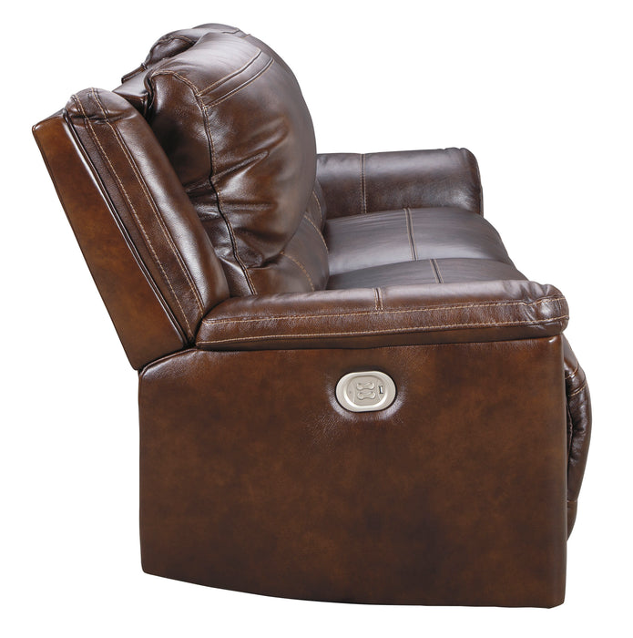 Catanzaro - Power Reclining Sofa w/ Adjustable Headrest - Genuine Leather
