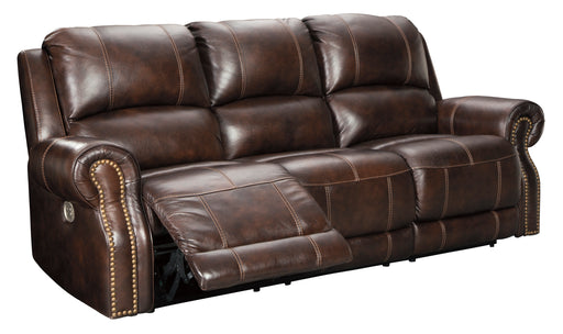 Buncrana - Power Reclining Sofa w/ Adjustable Headrest - Genuine Leather