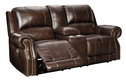 Buncrana - Power Reclining Loveseat w/ Adjustable Headrest - Genuine Leather