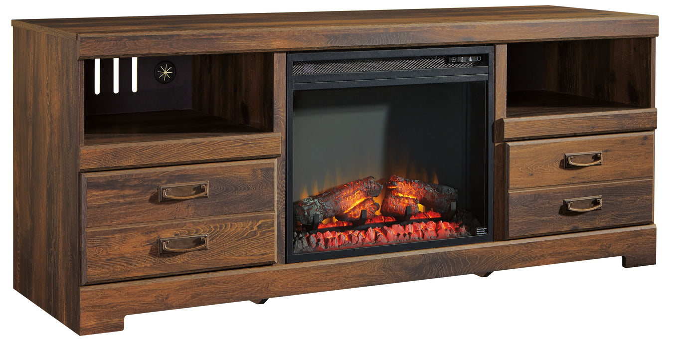 Quinden TV Stand - Optional Fireplace