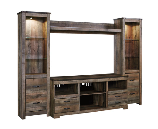 Trinell - Entertainment Center or TV Stand Only - Optional Fireplace