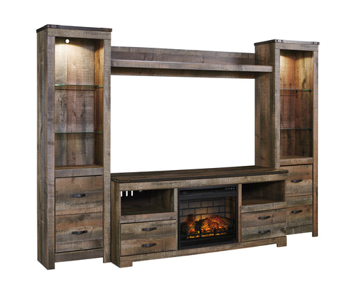 Trinell Entertainment Center or TV Stand Only - Optional Fireplace