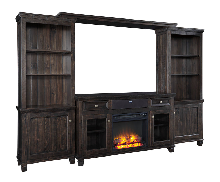 Townser - Entertainment Center or TV Stand Only - Optional Fireplace