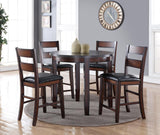 Rockport Collection // 5PC Round Dining in Counter Height
