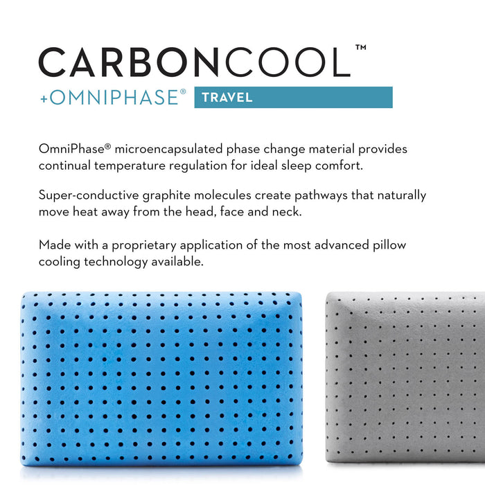 Z Pillow Travel CARBONCOOL® + OMNIPHASE® by Malouf