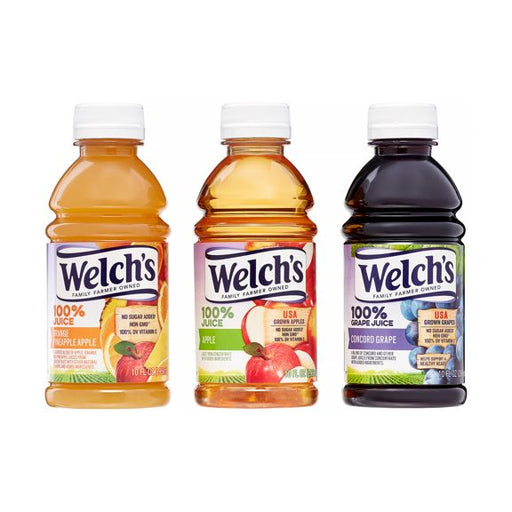 Welch's 100% Juice - 10 oz Bottle - 3 Flavors