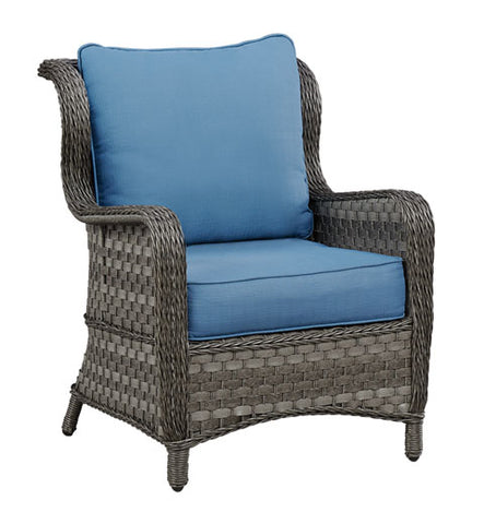 Abbots Court Outdoor Lounge Chair with Cushion - Set of 2
