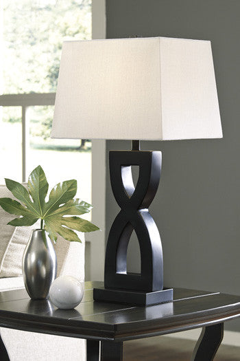 Amasai - Black - Poly Table Lamp (2/CN)