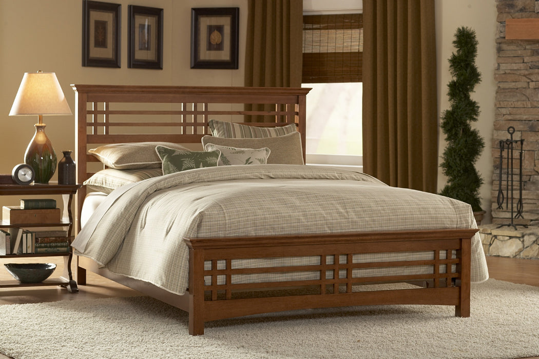Avery Wooden Complete Bed in Oak
