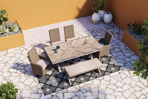 Beachcroft Outdoor Bench with Cushion