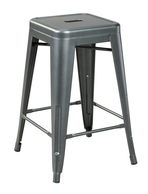 Beccatowne Metal Bar Stool Set of 4 - 2 Heights