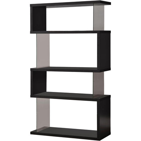 Four Tier Bookcase - Tempered Glass - 2 Colors