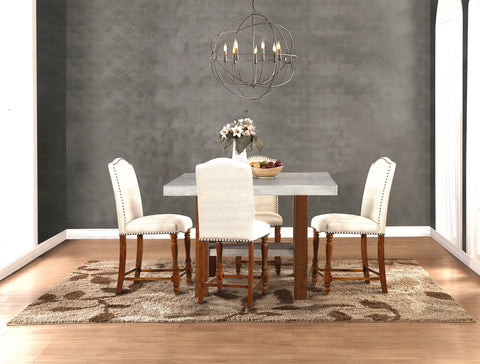Bohemian Collection // 5PC Dining Set in Counter Height