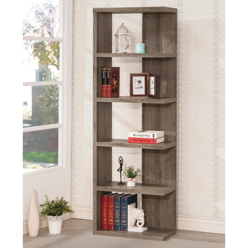 Semi-Backless Bookcase - Weathered Grey