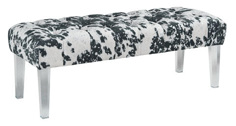 Brooklee Accent Bench - Black & White
